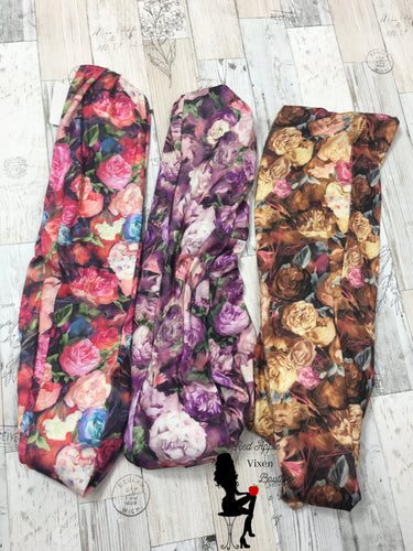 Flower Print Infinity Scarves - Red Apple Vixen Boutique