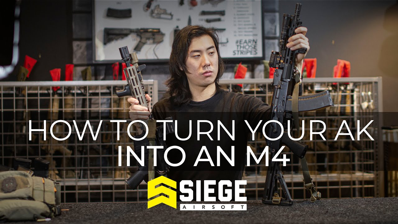 How to turn your AK into an M4. Set jimmies to full rustle.