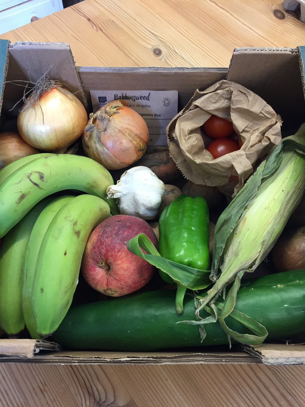 Babbinswood Organic Extra Small Fruit and Veg Box - Local Customers Only