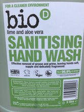 Load image into Gallery viewer, Bio D Lime and Aloe Vera Sanitising Hand Wash - Refill only