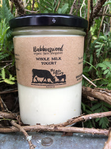 Babbinswood Whole Milk Yogurt Pasteurised -  435ml