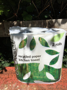 Ecoleaf Recycled Paper Kitchen Towel 2 rolls 3ply