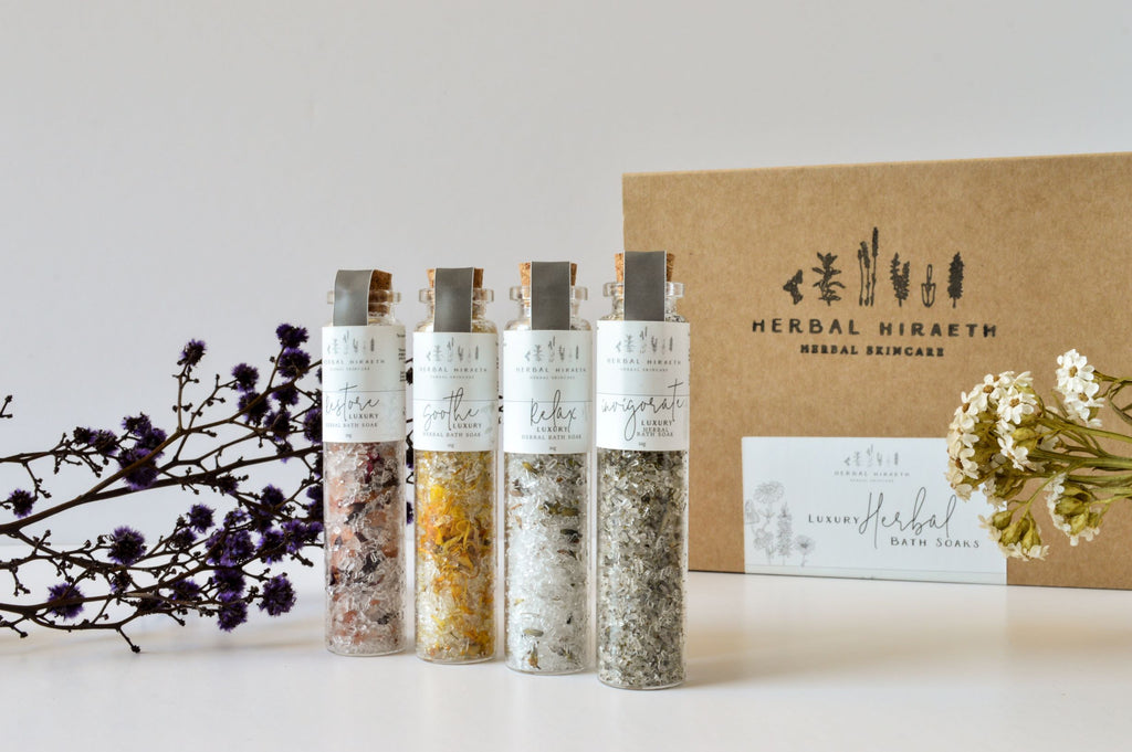 Luxury Herbal Bath Soak Set - HerbalHiraeth