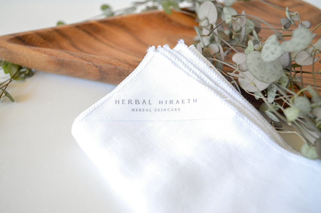 Organic Muslin Face Cloth - 2 Pack - HerbalHiraeth