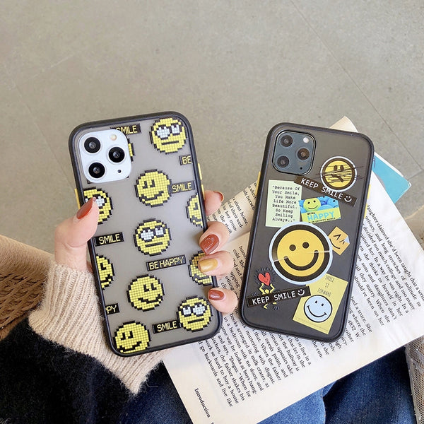 iPhone Lovely Smile Face Soft Silicone cover Case