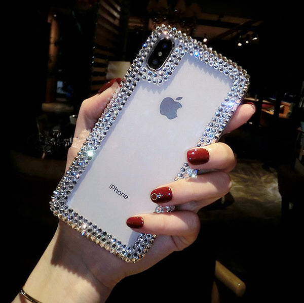 Diamond Bling Full Crystal Capa iPhone Cover Cases