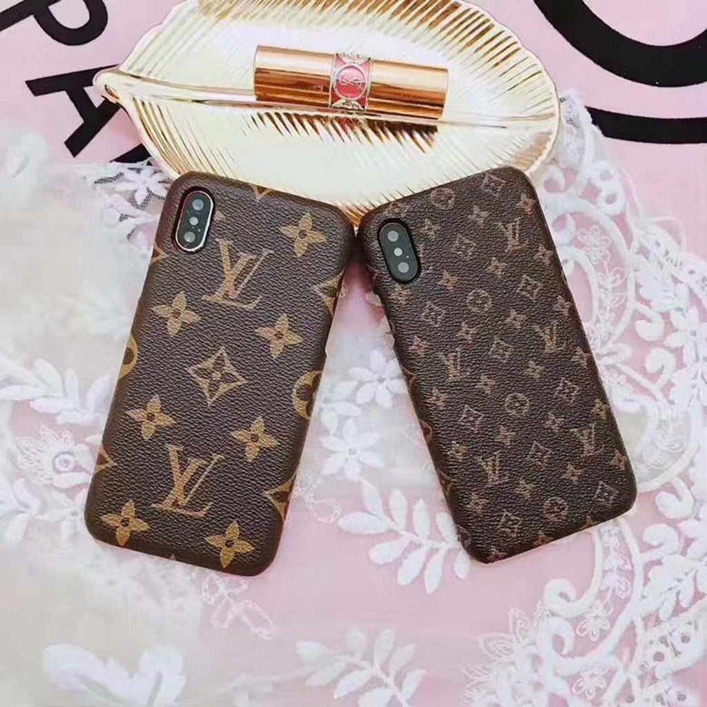 Luxury pattern Leather Case For iPhone Samsung