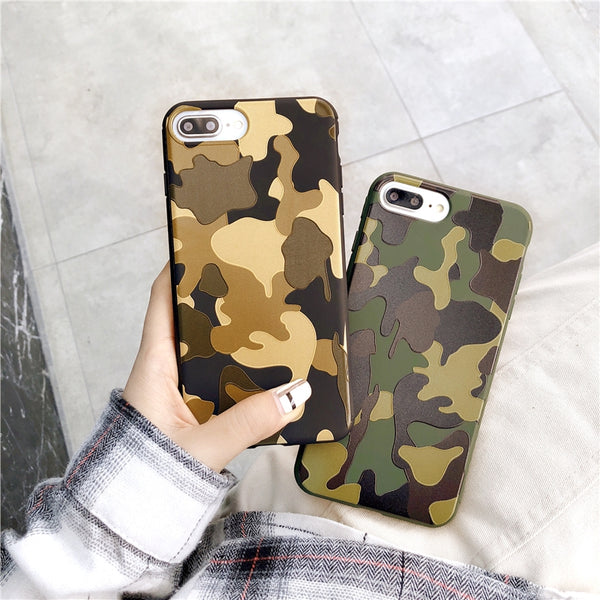 iPhone Camouflage color Soft Silicone cover Case