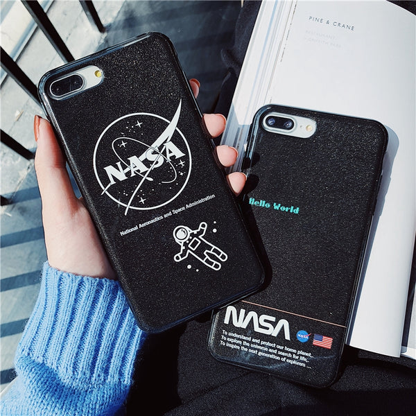 iPhone NASA Space astronaut Soft Silicone Case