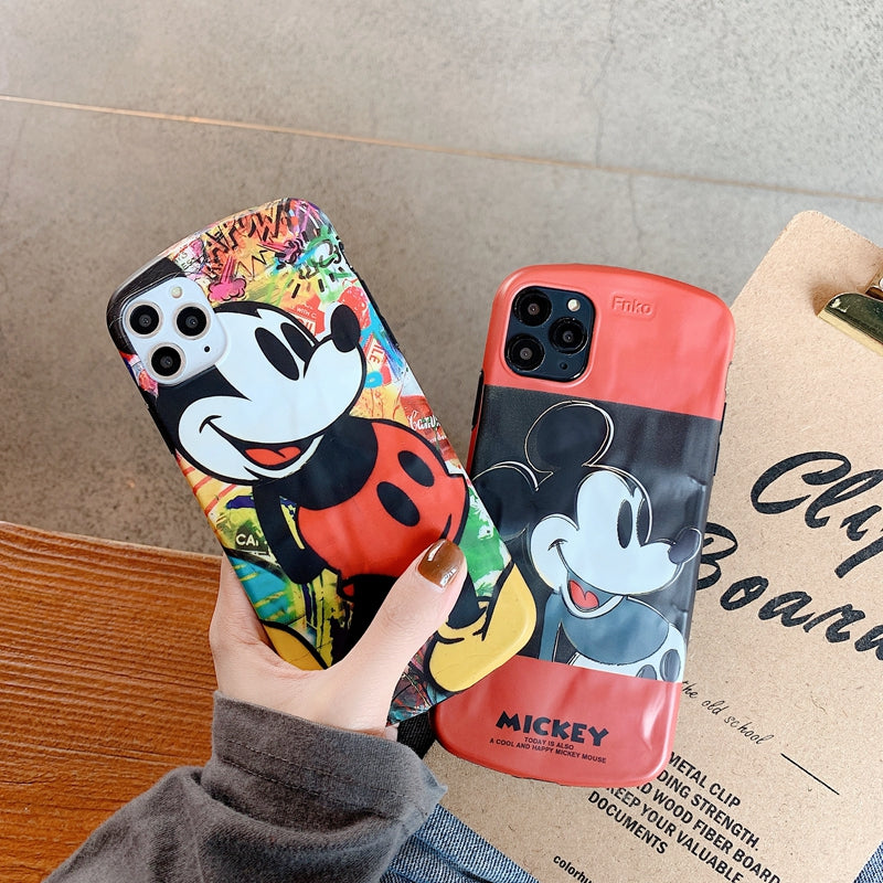 iPhone 3D cartoon Mickey Mouse Wrinkles soft case