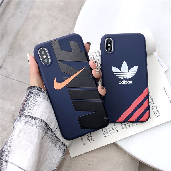 iPhone NIKE ADIDAS Soft Silicone cover Case
