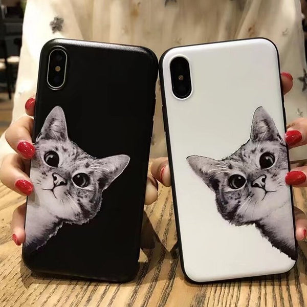 iPhone Cute Cats Animal Soft TPU back Cover case