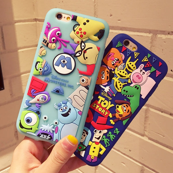 3D Cartoon Toy Story Three Eyes Silicone iPhone case