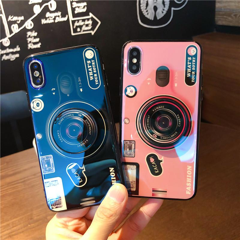 Beautiful Camera Soft iPhone case with back holder