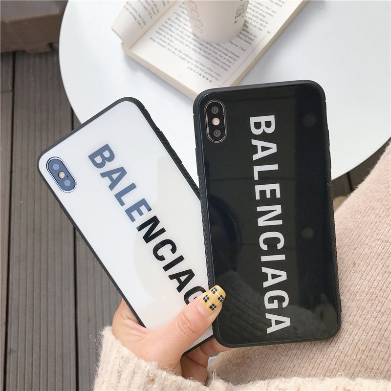 Luxury France Paris Brand BALENCI Glass iPhone case