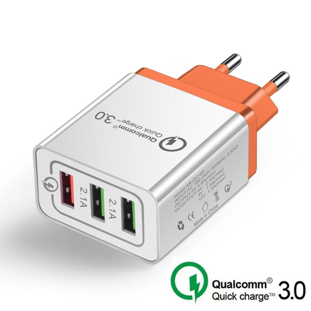 18W 3.0 5V 3A EU US Plug USB Quick charge Adapter