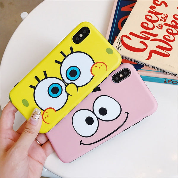 Cute Cartoon SpongeBob IPhone IMD Silicone soft TPU Case