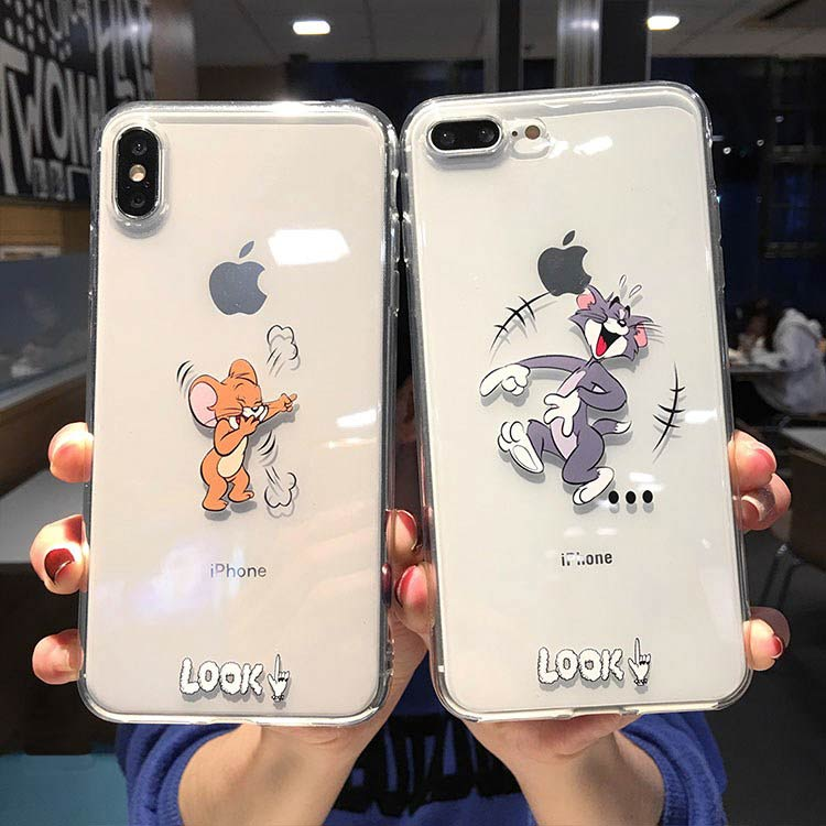 iPhone Funny Cute Cartoon Cat Tom and Jerry Cover case
