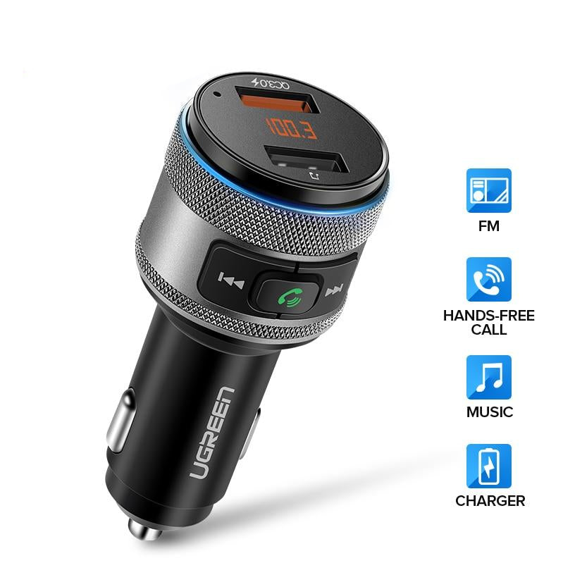 Bluetooth FM Transmitter Quick 3.0 USB Fast car Charger