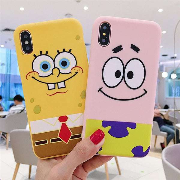 Fashion Cartoon SpongeBob iPhone silicone soft Cases