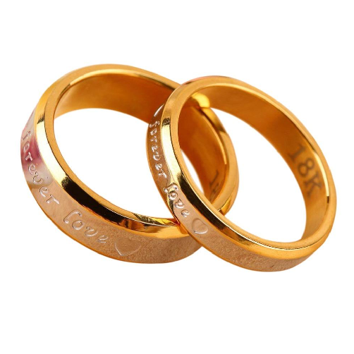 matching wedding rings for bride and groom