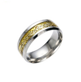 Promise Rings For Men - 4 COLORS Vintage Gold stainless steel Ring for Men