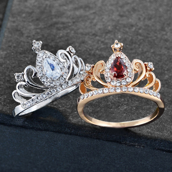 princess crown promise rings