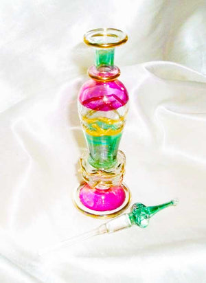 Inspiring Turkish Goddess Djinn – Beautiful Hand-Blown Glass Bottle - Autumn Dusk Spirits