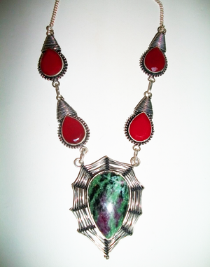Rare Male Egyptian Incubus-Vampire Hybrid –   Stunning Ruby & Ruby Zoisite Pendant or Direct Bind