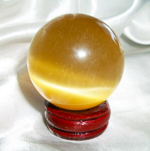 Beautiful Enchanted Crystal Scrying Ball Sphere–Various Colors, Enchantments and More - Autumn Dusk Spirits
