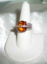 RARE Marvelous & Wise Male Orange Dragon  – Beautiful CZ Ring 7 1/4