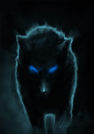 Dedicated Protector! Black Dog (Hell Hound / Hounds of Hell) - 3 Available - Autumn Dusk Spirits