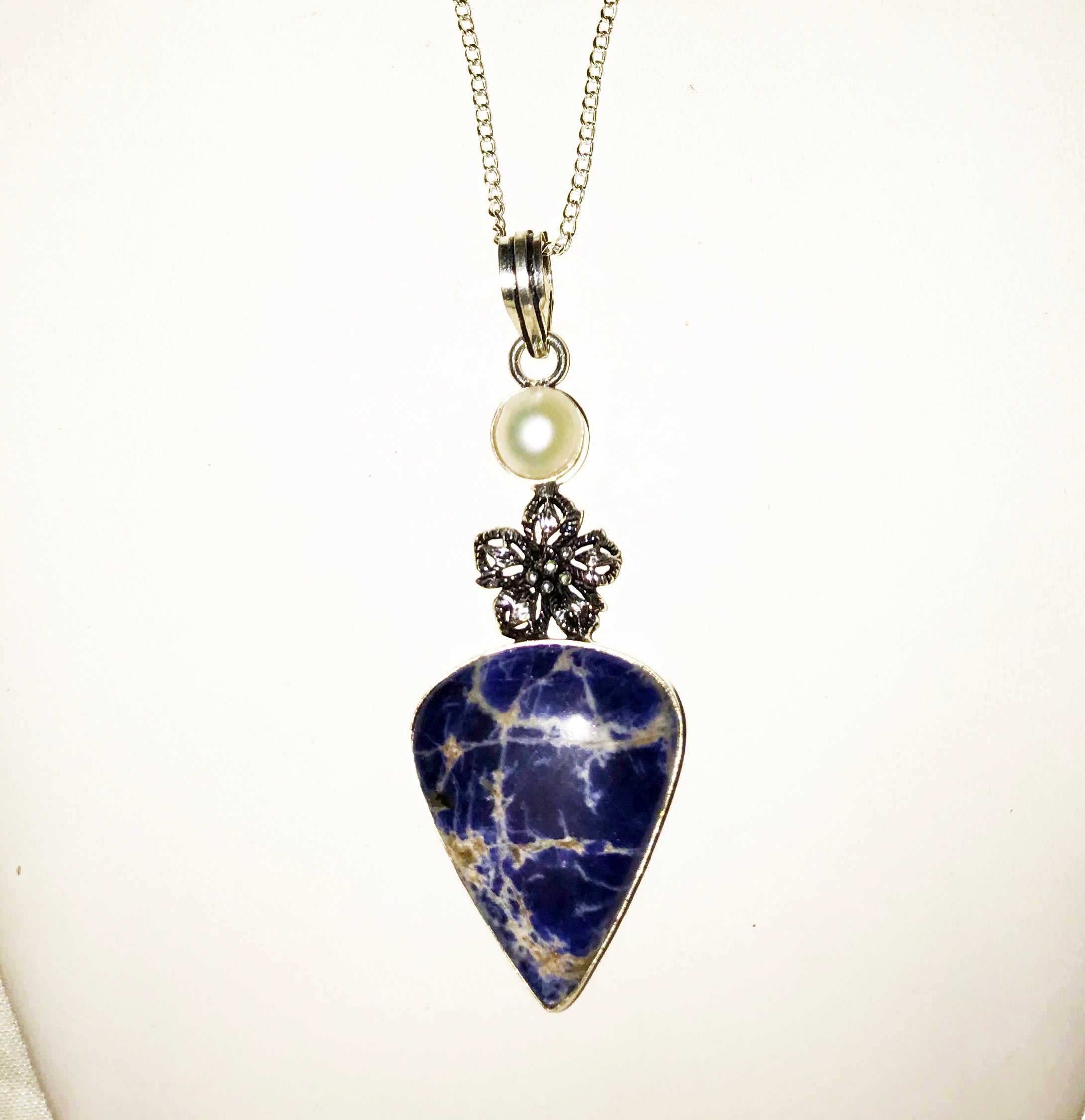 Wonderful Protective Bean Tighe (Banshee) – Sodalite Pendant - Autumn Dusk Spirits