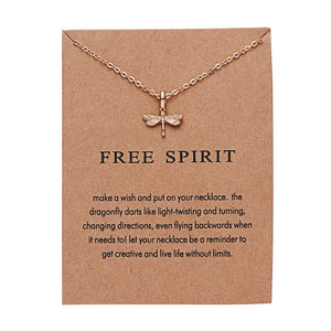 Dragonfly Necklace - Free Spirit - autumn-dusk-spirits