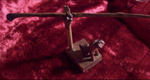 Hand Carved Oak Wand & Barking Dog Wand Stand - autumn-dusk-spirits
