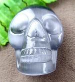 Black Cat's Eye Hand Carved Skull - Autumn Dusk Spirits