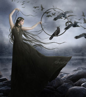 Mysterious Male or Female Were-Raven ~ Vessel Choice - Autumn Dusk Spirits