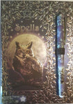 Luna Lakota Owl Spell book with Pen (BOS, Grimoire, Etc) - autumn-dusk-spirits