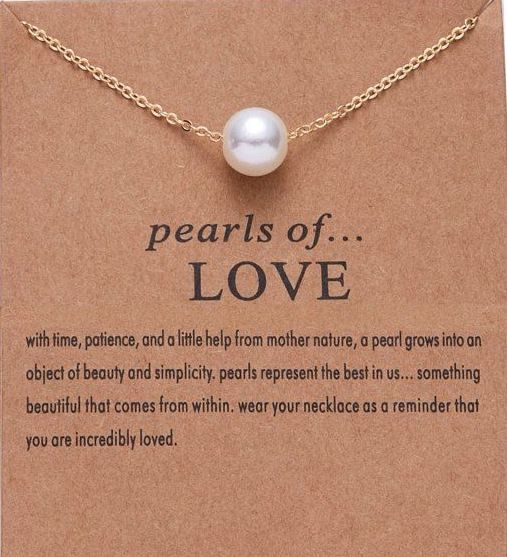 Pearl Necklace - Love - autumn-dusk-spirits