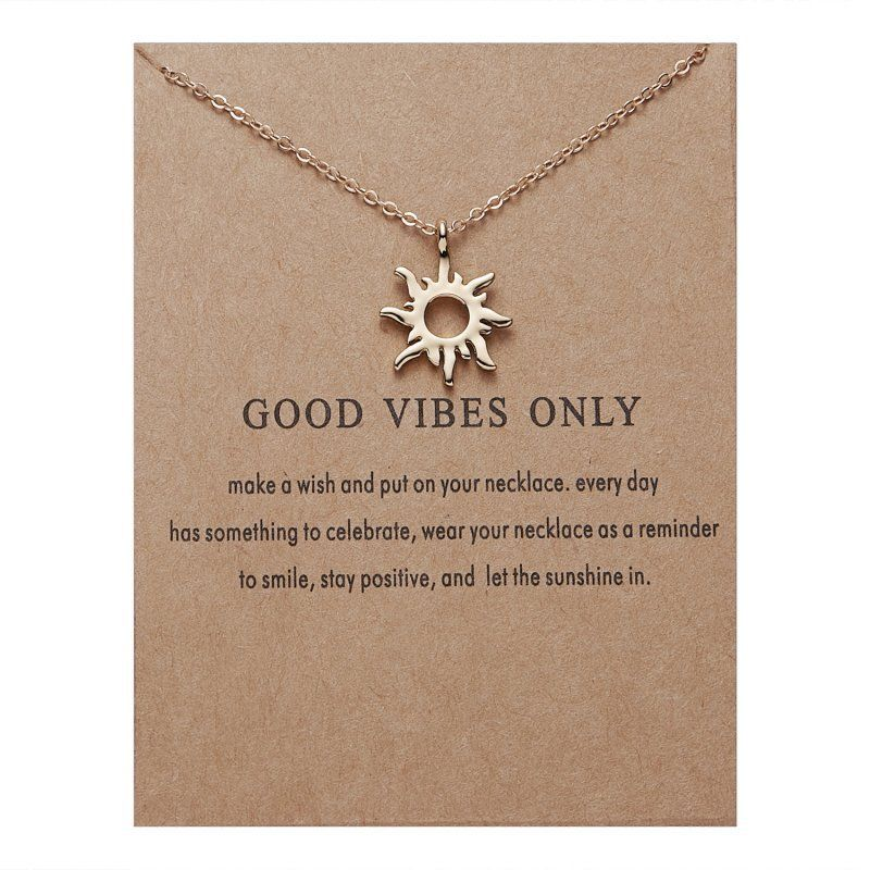 Sunshine Necklace - Good Vibes - autumn-dusk-spirits