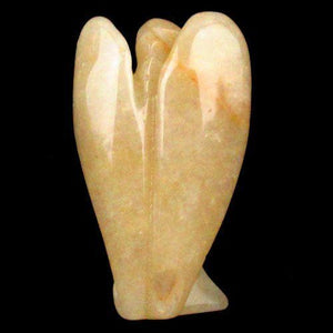Yellow Aventurine Carved Angel Statuette - Autumn Dusk Spirits