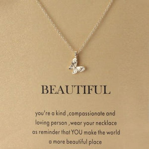 Beautiful Butterfly Necklace - Autumn Dusk Spirits