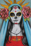 Santa Muerte ~ Haunted Bracelet to the Great Goddess of Death - Autumn Dusk Spirits