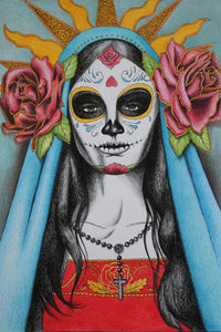 Santa Muerte ~ Bracelet to the Great Goddess of Death - Autumn Dusk Spirits
