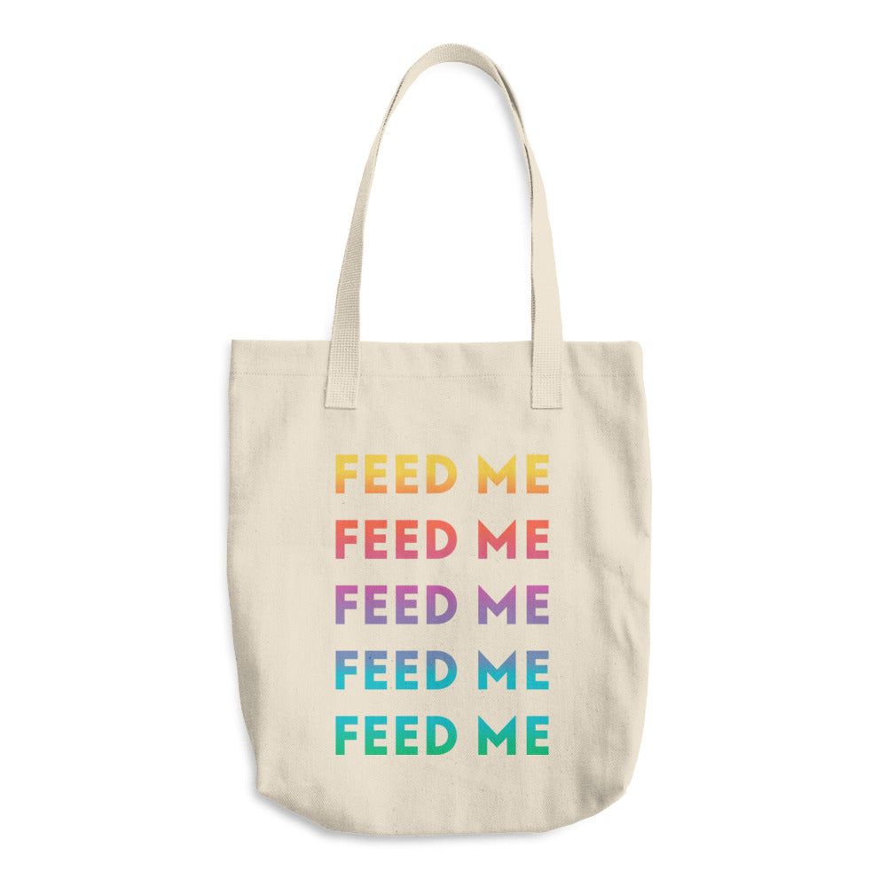 Feed Me Cotton Tote Bag