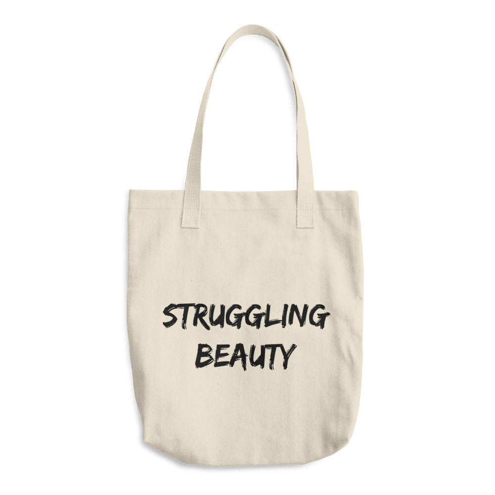 Struggling Beauty Cotton Tote Bag
