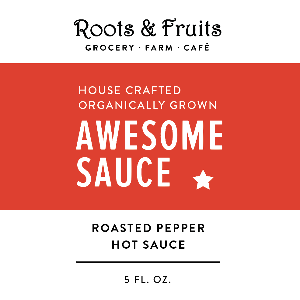 Awesomesauce - Organically Grown Hot Pepper Sauce
