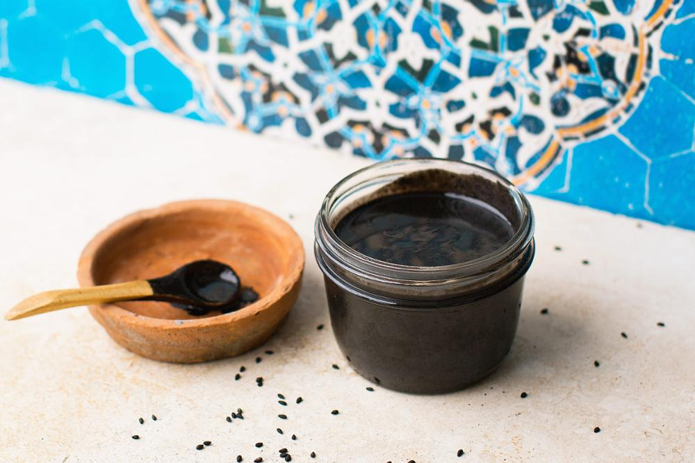 Black Sesame Seed Butter (Tahini) - Organic, Raw, Sprouted, Stoneground