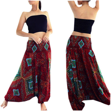 Ladies Patterned Harem Yoga Pants - Yogalogical