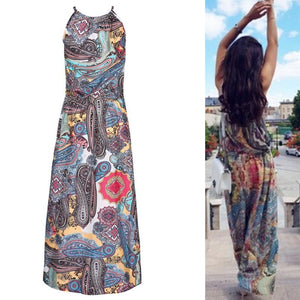 Boho Paisley Maxi Dress - Yogalogical